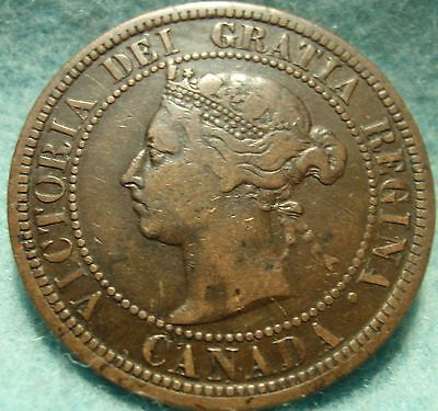 1887 High Grade CANADA LARGE CENT Victoria COIN No Res CANADIAN <