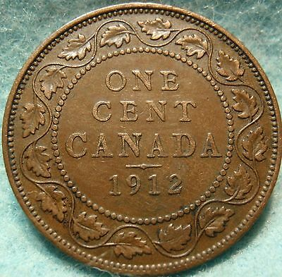1912 XF-AU CANADA LARGE CENT George V COIN NoRes CANADIAN <-.