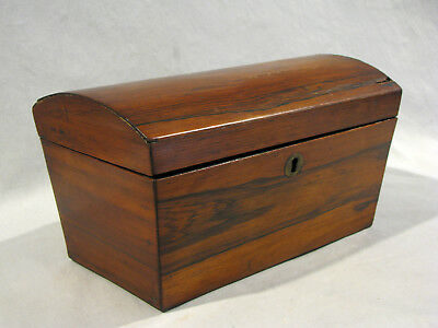 Antique ROSEWOOD TEA CADDY - AS FOUND