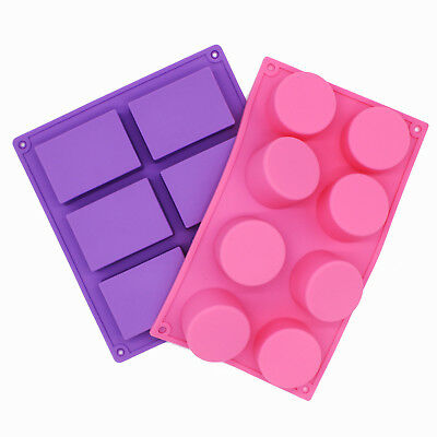 Plain Basic Rectangle Round Lotion Bars Soap Mold Silicone Mould