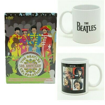 THE BEATLES: 50TH ANNIVERSARY CELEBRATION DVD and LET IT BE MUG