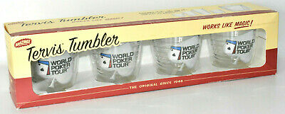 World Poker Tour Tervis Tumblers Set//4 * New in Box