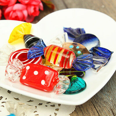 12Pcs Vintage Colorful Glass Sweets Wedding Party Candy Dots Table Decor Gift