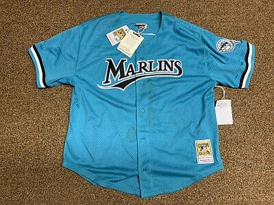 20afdb7b902 Andre Dawson Florida Marlins Mitchell   Ness Authentic 1995 BP Jersey XXL