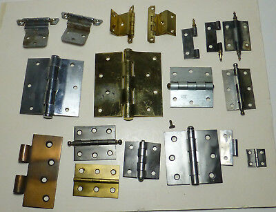 Huge Lot Vintage & Antique Door & Cabinet Hinges Many Stanley & SW