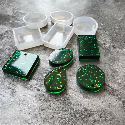 5Pcs Pendant Silicone Mold Resin Silicone Mould Handmade Tool Epoxy Resin Molds