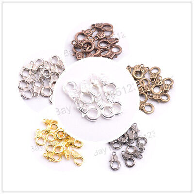 10Pcs Gold Silver Plated Bronze Copper Charms Lobster Clasps 17x10MM M3135