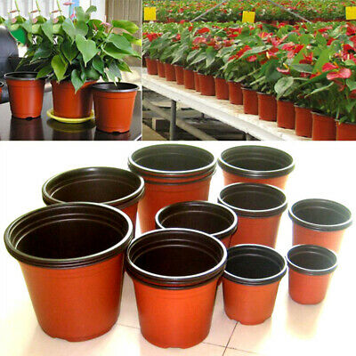 50pcs Round Nursery Pots Plastic Plants Pot Flower Seedlings Containers Holder