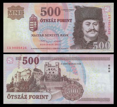 Hungary 500 Forint Banknote, 2013, P-196e , UNC, Europe Paper Money