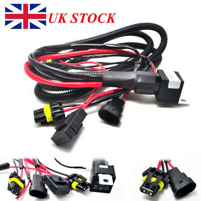 Relay Wiring Harness Xenon HID Conversion Kit Add-On Fog Light Fit 9005 9006 UK