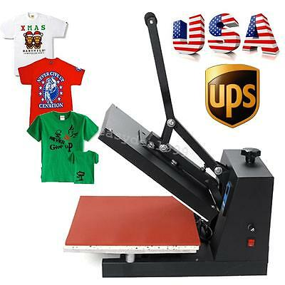 "USA 15X15"" Digital Heat Press T-Shirt Clothing Pattern Transfer Pressing Machine"