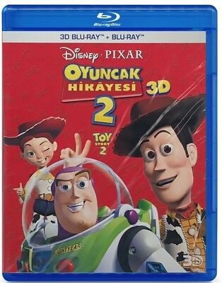 "Toy Story 2 (3D BLU RAY + 2D BLU-RAY) 2 DISC ""Region Free"" Brand New"