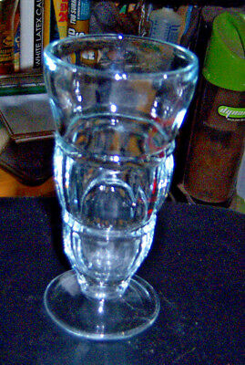 """A glass made to hold your treats 6 1/2"""" tall 3"""" round with a 2 3/4"""" round base"""