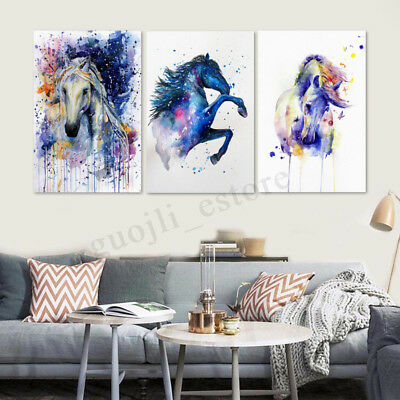 Modern Colourful Horse Art Oil Painting Canvas Print Wall Art Picture Home Decor