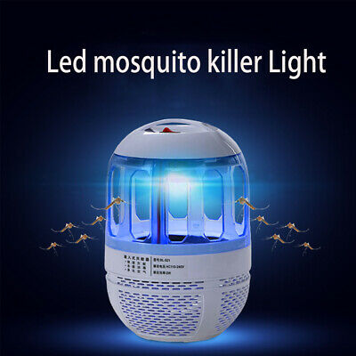 USB Plug 360° Mosquito Killer UV Lamp Mosquito Fly Insect Trap Night Light