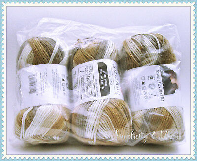 Loops & Threads Impeccable Yarn, Toasted Almond (Lot of 3)