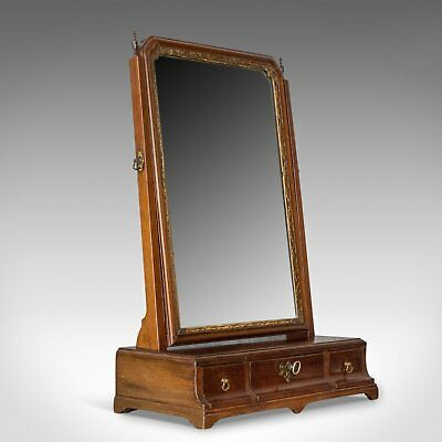 Antique Dressing Table Mirror, English Georgian, Mahogany, Toilet, Vanity c.1800