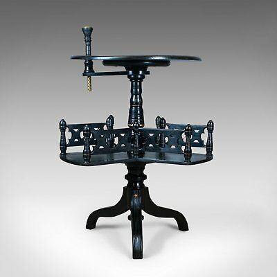 Aesthetic Period Reading Table, English, Victorian, Ebonised, Side, Circa 1880