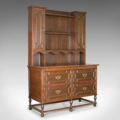 Antique Dresser, Victorian in the Jacobean Taste, English, Oak, Sideboard c.1880