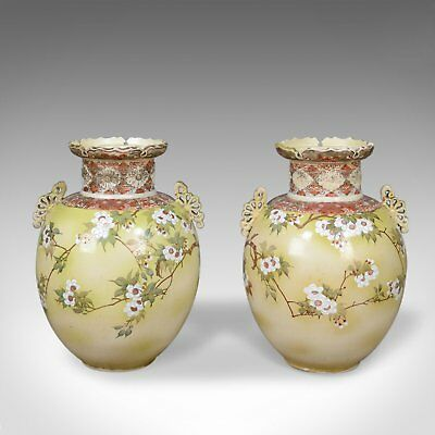 Mid 20th Century Pair of Chinese Baluster Vases, Ceramic Urns
