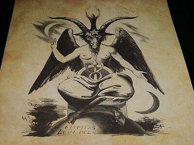 Ancient Art Weird Print Oddity Occult Antique Effect Baphomet Curio Demon map