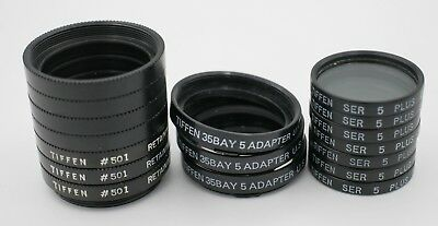 Lot Tiffen Bay I Series V 5 Adapter Rollei Yashica TLR Camera Macro Close Up Set