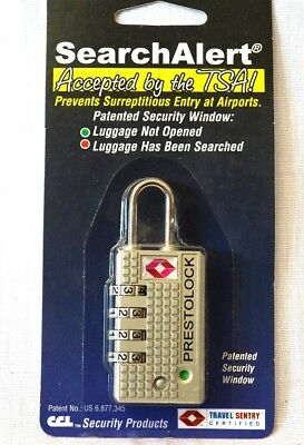 One  SearchAlert 4 dial combination Pewter TSA lock fits your luggage case
