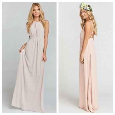 d259e9f7524 SHOW ME YOUR MUMU Amanda Open Back Maxi Dress Size Large Wedding Cake  184