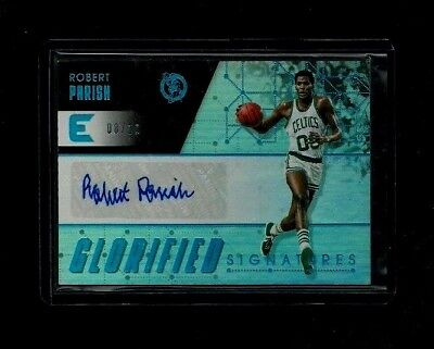 Robert Parish Essentials GLORIFIED SIGNATURES Auto Refractor #/10 Celtics LEGEND