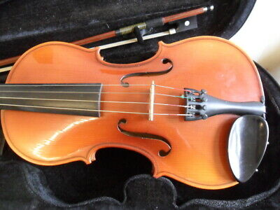 4/4 Full Size Violin By Michael Poller Of Romania With Case Bow & Chin Rest