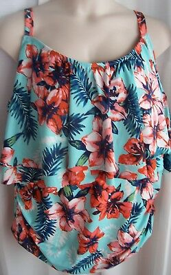 11f469f7bb3 Catherines Plus 34W Ruffled Hibiscus Tummy Control 1 Pc Bathing Swimsuit NWT