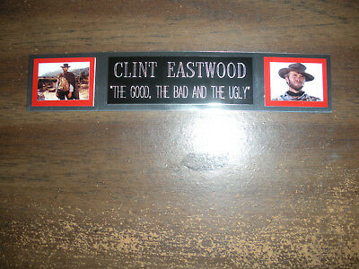 Clint Eastwood Nameplate For Signed Photo/Memorabilia