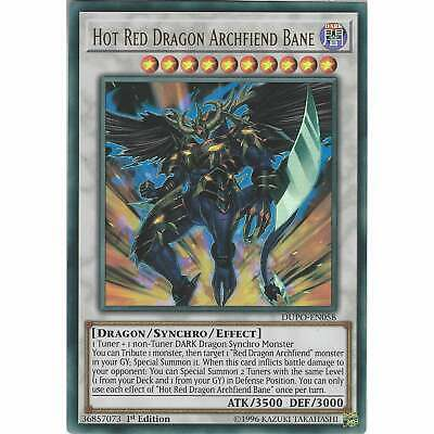 Hot Red Dragon Archfiend Bane DUPO-EN058 Ultra Rare Card - 1st Edition - YuGiOh
