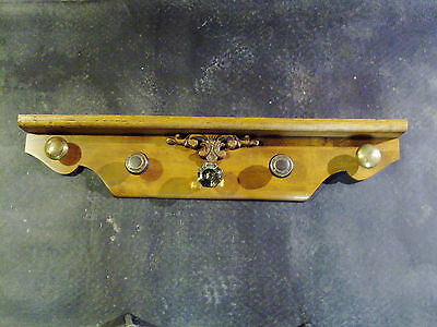 "Antique Door Knob Coat Rack purse hat rack glass door solid Maple 35""x 7""  #58"