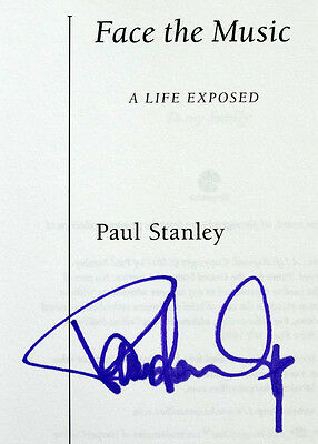 KISS Paul Stanley FACE THE MUSIC Book SIGNED  Rock & Roll AUTOGRAPH / In Purple