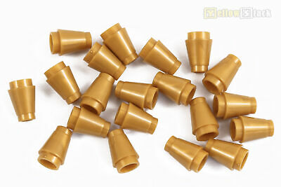 Cones with Top Groove Pearl Gold NEU//NEW Lego 10 x Kegelsteine gold 4589b