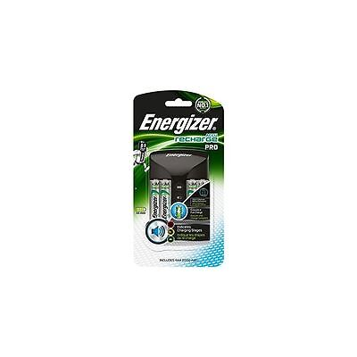 Energizer Accu Recharge Pro Battery Charger + 4 Aa Batteries Charge Aa+Aaa 34382