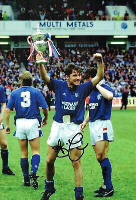 Ally McCOIST SIGNED Autograph 12x8 Photo 6 Glasgow Rangers Legend AFTAL COA