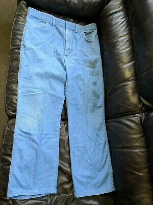 bdd3006a MADE IN USA Vintage Wrangler 38x30 Denim Blue Jeans Straight Leg WPL5426