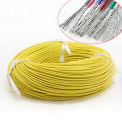Silicone Cable Flexible Wire 12 - 28 30AWG Copper Tinned HIGH TEMP UL3135 Yellow