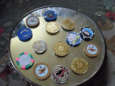 Mixed Lot Casino Tokens Chips Lot Gambling Collectibles Lot Casino Lot