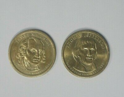 Lot of 2 PRESIDENTIAL Dollar $1 Coins From Hoard  **FREE SHIPPING**