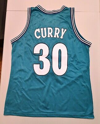 detailed look 45282 cd0a5 DELL CURRY MITCHELL & Ness CHARLOTTE HORNETS T Shirt Jersey ...