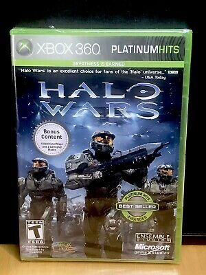 Halo Wars Platinum Hits Xbox 360 Brand New Factory Sealed! Free Shipping