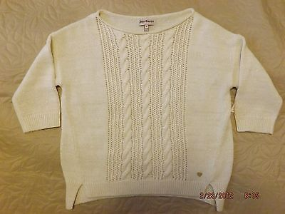 New Juicy Couture Kids Girls Pullover Cable Knit Sweater Size 8
