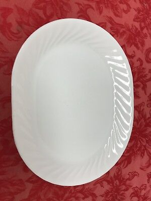 "Corelle ENHANCEMENTS White Swirl 12"" x 10"" Oval Platter"