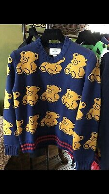 8bfc72aa8 GUCCI TEDDY BEAR Jacquard wool cardigan men's, SOLD OUT 2200USD NWT ...