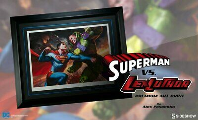 Superman vs Lex Luthor Art Print by Sideshow Collectibles no.27/150 FRAMED