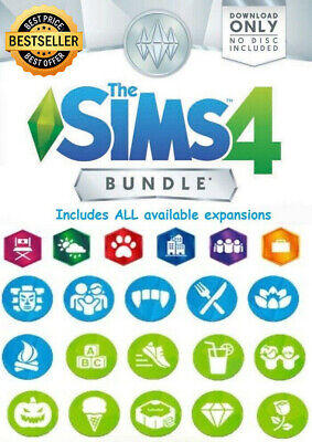 THE SIMS 4 ALL EXPANSIONS + THE SIMS 2  10+ DLC PC MAC Offline + BONUS 100 GAMES