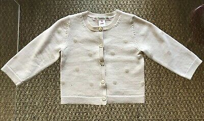 Authentic BONPOINT $215 Girls Cardigan - 12 Months